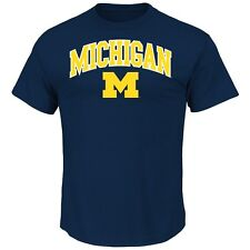 "Michigan Wolverines Majestic NCAA ""Arch Mascot"" Men's Navy T-Shirt"