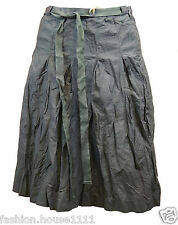 New TIMBERLAND Women's Creased style Mid - long Skirt formal/casual- Dark Grey