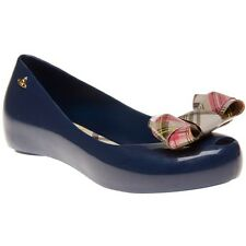 New Womens Vivienne Westwood And Melissa Blue Ultragirl 12 Rubber Shoes Flats