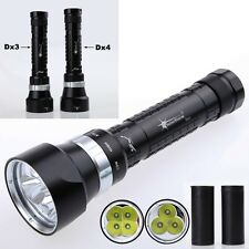 SolarStorm 4000 or 6000LM Diving Light Flashlight Dive Torch 3 or 4 Cree U2 LED