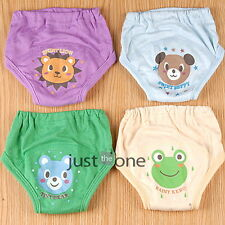 Baby Toddler Boys 4 Layers Reusable Waterproof Potty Cute Training Pants 4 pcs