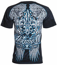 UNTAMED Mens T-Shirt FLEUR DE LIS WINGS Tattoo Biker UFC Roar Xzavier M-3XL $35