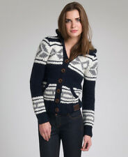 New Womens Superdry Astrid Hooded Cardigan Navy Blue