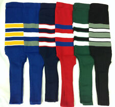 """Baseball Stirrups Socks Different Colors with Stripes 8"""" Royal Navy Black Red"""
