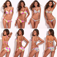 RELLECIGA Floral Sexy Women Beach Women Push Up Swimwear Suit Bikini Set/Up/Down