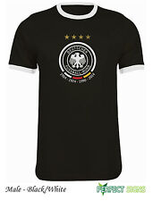 Germany 4 Stars Winners Fussballbund Fifa World Cup T-Shirt S-2XL Ringer Black