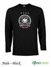 Germany 4 Stars Winners Fussballbund Fifa  Long Sleeve T-Shirts  S-XX - Black