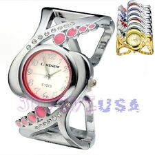 Women's Fashion Crystal Quartz Analog Wrist Watch,Cuff Bracelet