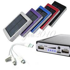 30000mAh Solar Power Bank USB External Mobile Battery Charger For iPhone/HTC