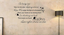 Ed Sheeran Thinking out loud Song Music Lyrics Quote Sticker Wall Art