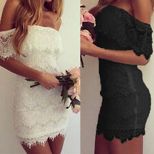 Women's Summer Bodycon Lace Sexy Evening Party Cocktail Wedding Bridesmaid Dress