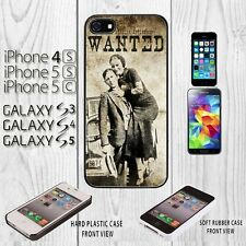 Wanted Bonnie and Clyde  iPhone Case For iPhone 4/4S/5/5S/5C+Galaxy S3/S4/S5