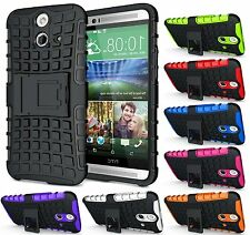 GRENADE GRIP RUGGED TPU SKIN HARD CASE COVER STAND FOR HTC ONE E8 (ACE/VOGUE)
