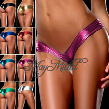 Sexy Metallic Lingerie G-String Lady Micro Thong Underwear Pants Bikini Briefs