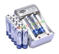 12xAAA Ni-MH 1000mAh rechargeable battery BTY+AA AAA Rechargable battery Charger