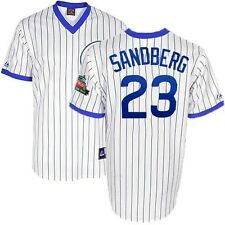 Ryne Sandberg Chicago Cubs Cooperstown Home Jersey w/ Wrigley 100th Patch Men's