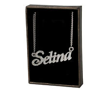 "Necklace With Name ""Selina"" - 18K Gold Plated 