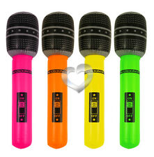 Neon Inflatable Microphone 40cm Blow Up Mic Hen Stag Night Fancy Dress Party