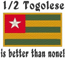 1/2 Togolese is better than none! Togo Flag Carter's Baby Bodysuit Embroidery