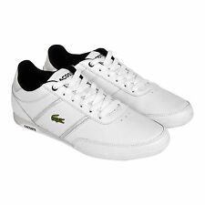 Lacoste Mens Coveland Var White Gray Leather Lace Up Sneakers Shoes