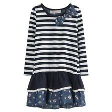 Richie House Girls's Sweet Striped Dress with Layered Bottoms Size 1-6 RH0263