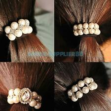 A#S0 New Fashion Sweet Lady Girl Pearl Rhinestone Strong Hair Band Rope