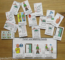 Toilet and Helping pecs with velcro & boards  ~ Autism ~ASD~SEN~Schools~Home use
