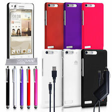 Yousave Accessories For The Huawei Ascend G6 Best Hard Tough Case Cover + Film