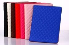 QUILTED SMART SOFT CASE COVER WITH STAND PU LEATHER FOR APPLE IPAD AIR