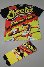 New Flamin Hot Cheetos Unisex Graphic T-Shirt And Sock Set Or Socks Only
