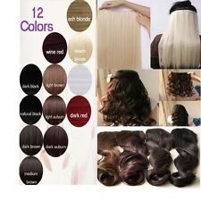 17-30 sale clips in hair extension 3/4 Full Head straight curly All Colors WM