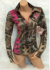 BRAND NEW!!! Womens Mossy Oak Pink/Camo Athletic Zip Pullover Jacket S M L XL
