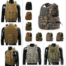 MOLLE Tactical Military Swat Army Combat Assault Plate Carrier Vest Holster