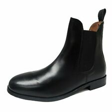 Women's New Black Leather Twin Gusset Low Rider/Chelsea Pull On Boot