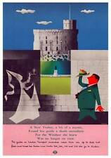 London Transport coach tours to Windsor, by John Bainbridge, 1956. Travel Poster