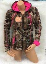 BRAND NEW!!! Womens Mossy Oak Camo with Pink Accents Jacket Hoodie S M L XL