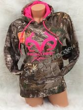 BRAND NEW!!! Womens REALTREE Camo Pink Accents Pullover Hoodie S M L XL