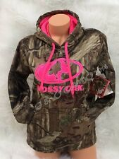 BRAND NEW!!! Womens MOSSY OAK Camo Pink Accents Pullover Hoodie S M L XL