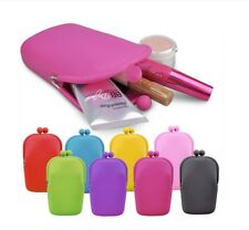 Vogue Jelly Rubber Silicone Cosmetic Makeup Bag Coin Purses  Cellphone bag MCUS