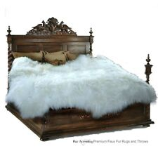 FUR ACCENTS Thick Faux Sheepskin Pelt Rug / Faux Fur / Plush Shag Carpet 3 Sizes