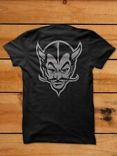 Devil Hell Motorcycle Satan Hotrod Ratrod Rockabilly Shirt Creepshow boardtrack