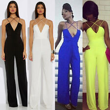 New Womens Ladies Sexy Slim Sleeveless Bodycon Jumpsuit Romper Trousers Clubwear
