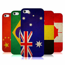 HEAD CASE VINTAGE FLAGS SET 1 TPU GEL BACK CASE COVER FOR APPLE iPHONE 5S