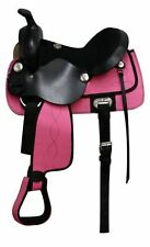 New 13 or 14 inch Pink Western Cordura Youth/Childs/Kids Horse Saddle-Trail nr