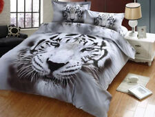 Tiger Doona Duvet Quilt Cover Set Double/Queen/King Size Animal Bed Pillowcases