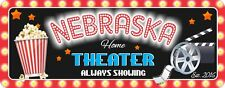 Home Theater Custom Sign with Popcorn Reel and Clapboard Made in the USA C1230