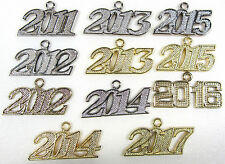 NEW Graduation Year Date Charms for Tassel 2011 2012 2013 2014 2015 2016 2017