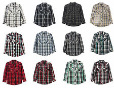 Studio 10 Mens Casual Western Plaid Checked Shirt Pearl Snap , Style# : LS-92W