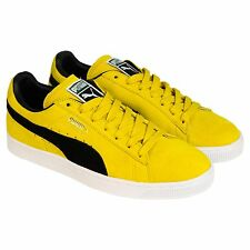 Puma Mens Suede Classic +  Yellow Suede Lace Up Sneakers Shoes