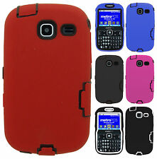 For Samsung Freeform III R380 IMPACT RESISTANT Hard Rubberized Phone Case Cover